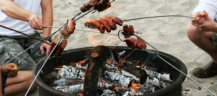 Beach barbecue in Cornwall