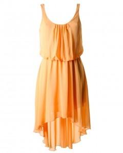 apricot asymmetrical dress