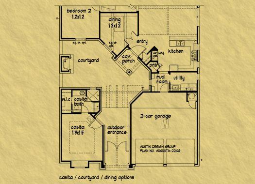 Casita House Plan Home Dream Home Pinterest