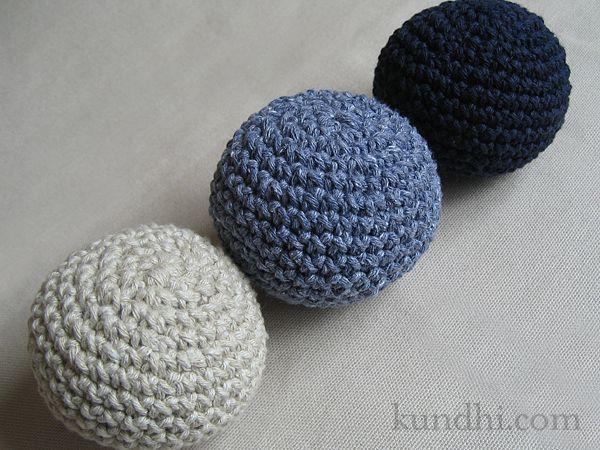 tiny crochet balls