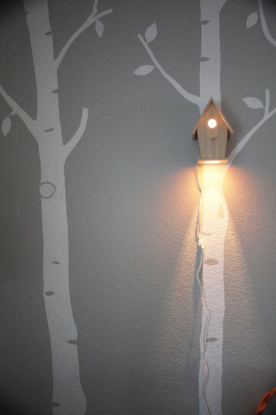 Avery Wall Hanging Birdhouse Lamp : Avery Wall Hanging Birdhouse Lamp - Modern Baby Nursery Lighting