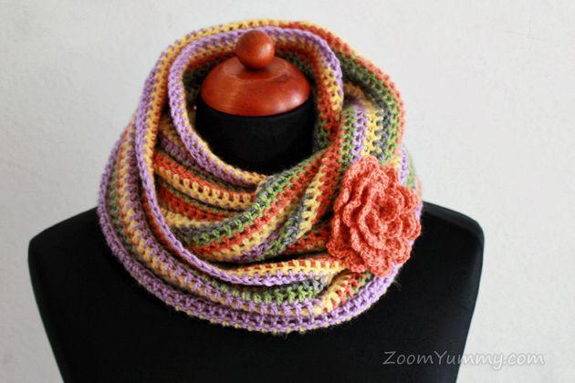 Crochet Infinity Scarf Free Tutorial : infinity scarf free tutorial Crochet Scarf Pinterest