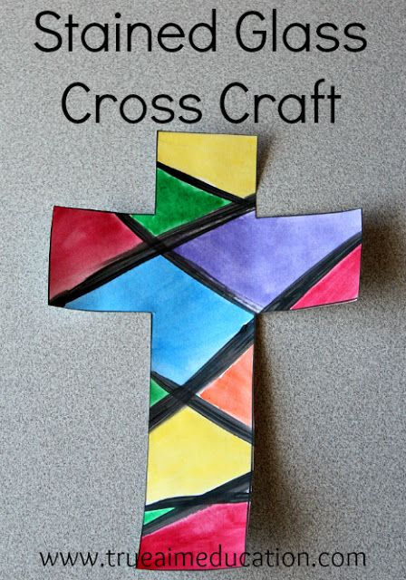Stained Glass Cross Craft