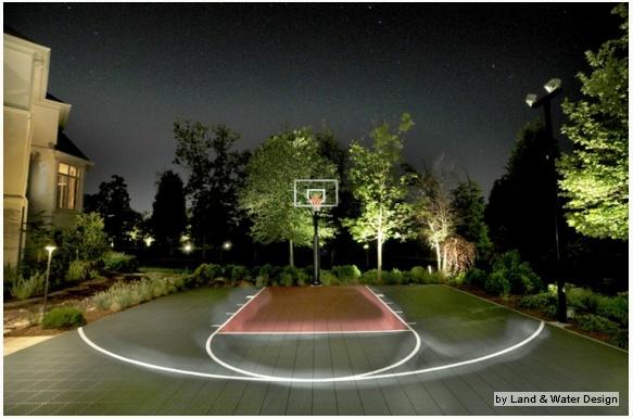 Lighting For Backyard Basketball Court : Basketball Court