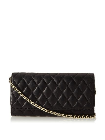 Zenith Quilted Shoulder Bag With Chain Black 101