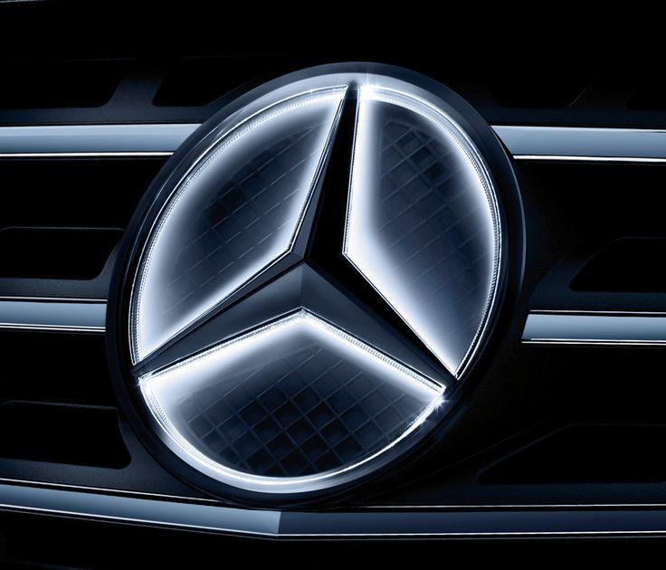 Led lit mercedes benz emblem car reviews pinterest for Mercedes benz insignia