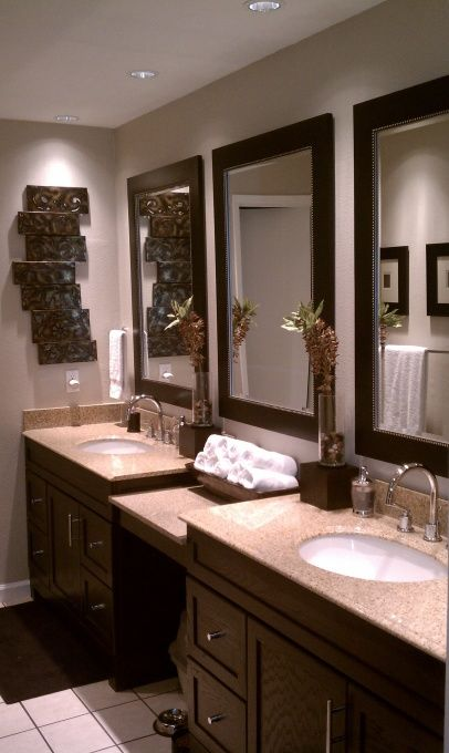 Pin by geneva d on home sweet home pinterest for Master bathroom decorating ideas