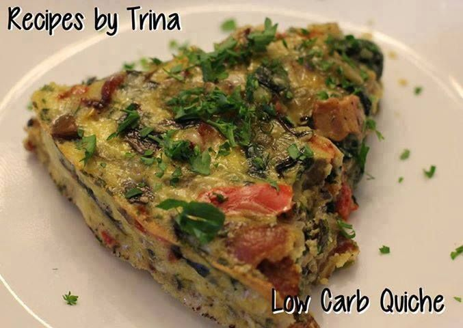low carb quiche caryn 39 s healthy recipes pinterest. Black Bedroom Furniture Sets. Home Design Ideas