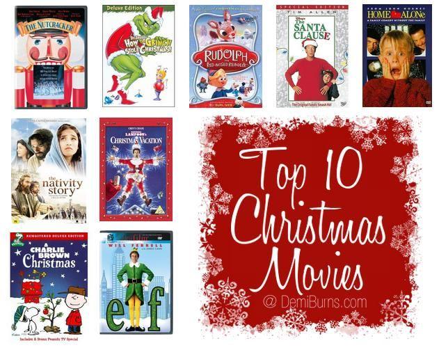 Top 10 Favorite Christmas Movies Christmas Pinterest