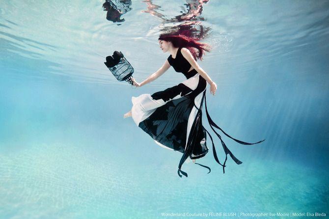 photographer: Ilse Moore | model: Elsa Bleda | dress: Feline Blush (Wonderland couture)