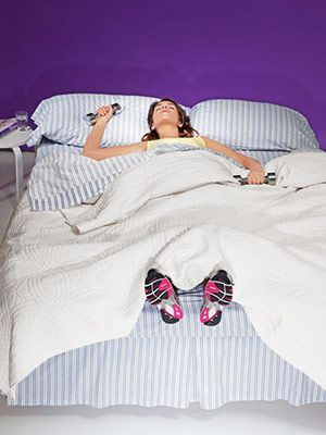 Becoming an A.M. exerciser means you get to cross your workout off your to-do list ASAP. We're not telling you to skip out on sleep in favor of a sweat session, but there are simple steps you can take to reset your sleep schedule and wake up earlier. Can't quite get yourself out of bed that early? Wear your workout clothes to bed and get your sweat on as soon as you wake up.