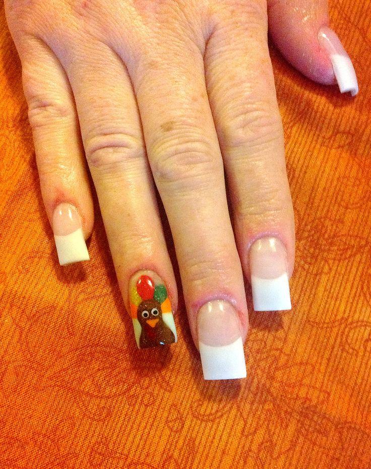 Turkey thanksgiving nail art | Nail