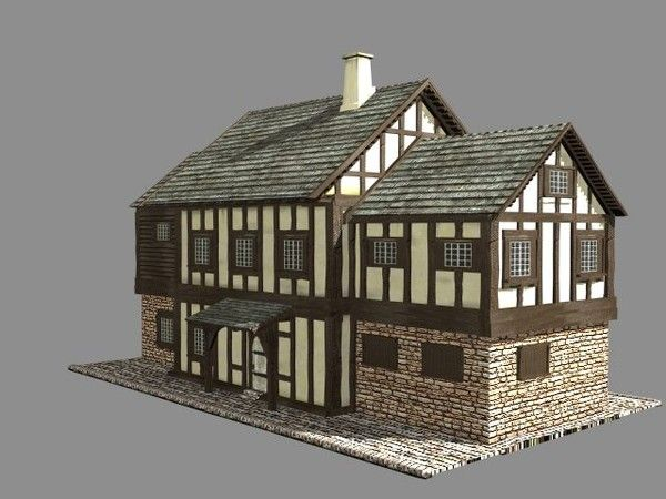 Medieval house sims building plans plans pinterest for Medieval house plans