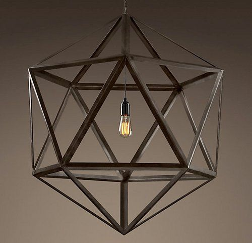 Would be great in a library #library #interiordesign #lighting #polyhedrons #metal #home