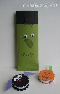 Candy Bar wrap idea and small candy decor...cute!!!