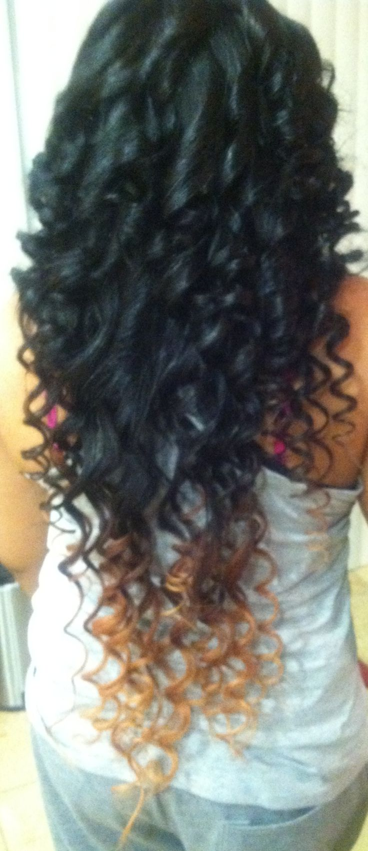Ombr 233 With Wand Curls Hairstyles ♡ Pinterest