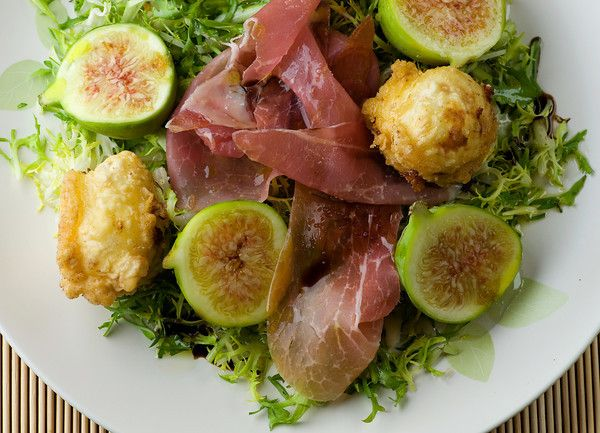 Fried goat cheese + fig salad | Food Orgy | Pinterest