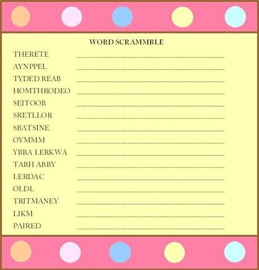 baby shower games free printable child shower games the best