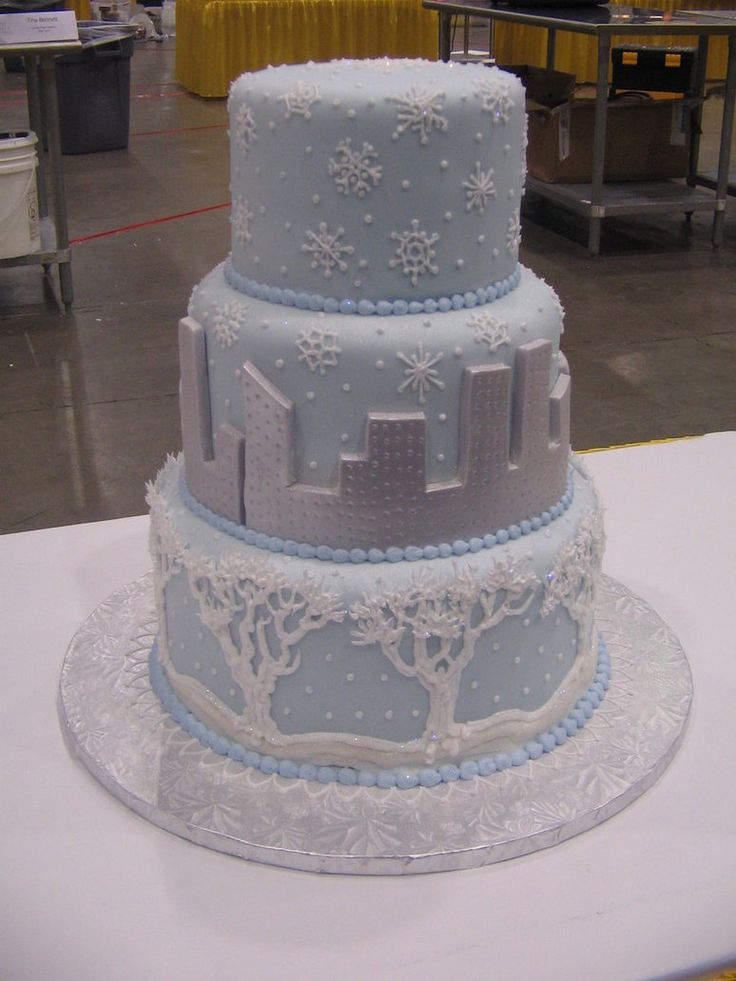 new york winter wedding cake wow
