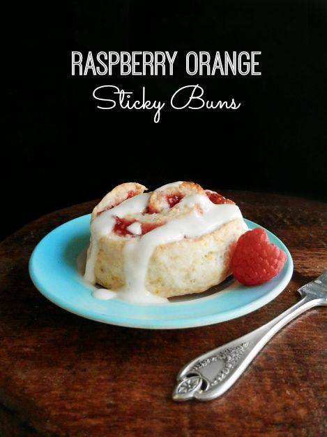 ooey gooey raspberry orange sticky buns with cream cheese icing and ...
