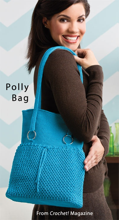 Polly Bag from the Autumn 2013 issue of Crochet! Magazine. Order a digital copy here: http://www.anniescatalog.com/detail.html?prod_id=102109