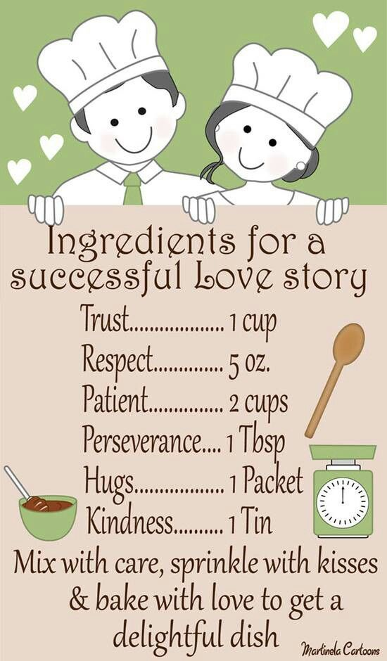Ingredients for a love story