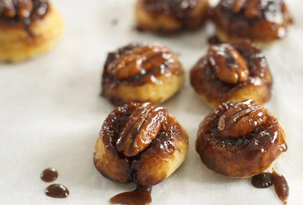 Sticky Pecan Bites   Bite-sized sticky buns without the time-consuming ...