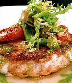 vinaigrette pan roasted halibut with caper vinaigrette caper halibut ...