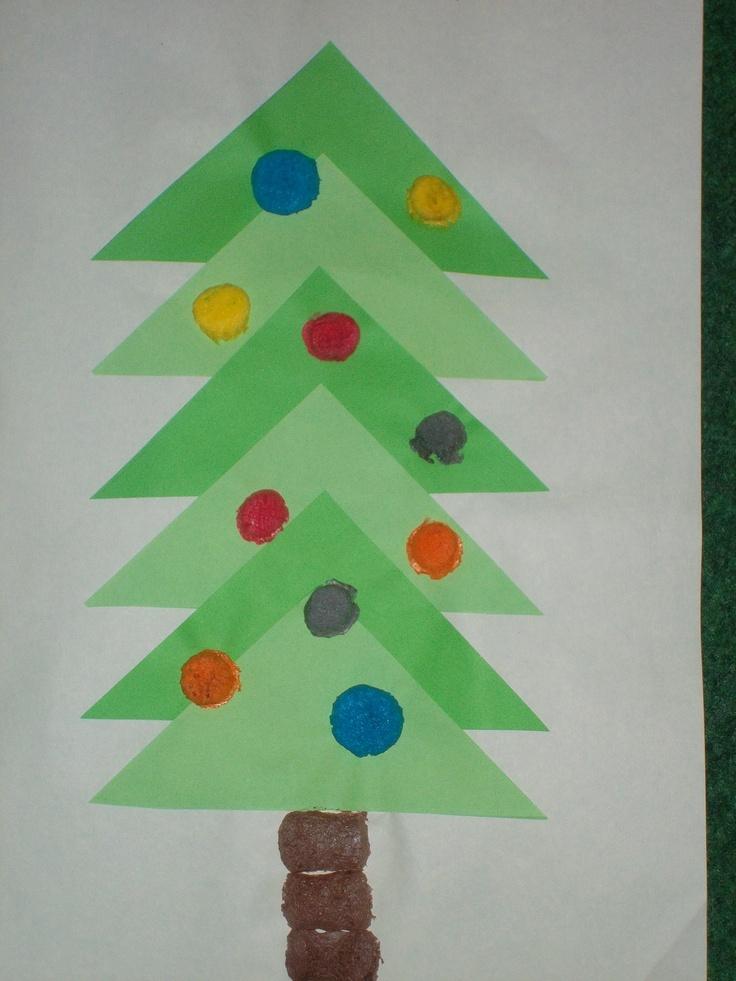 tannenbaum aus dreiecken basteln mit kids pinterest. Black Bedroom Furniture Sets. Home Design Ideas