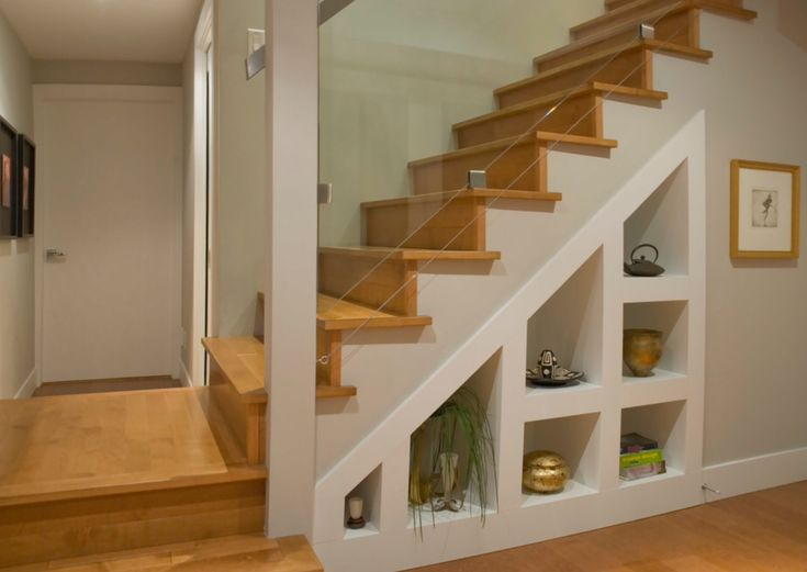 Basement Stairs Storage Makeover Pinterest