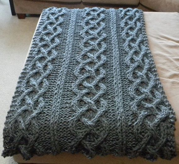 Big chunky cable knit blanket pattern only permission for How to make a big chunky knit blanket