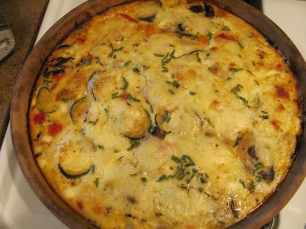 Vegetable and Gruyere Quiche from Food.com: Here is a crustless quiche ...