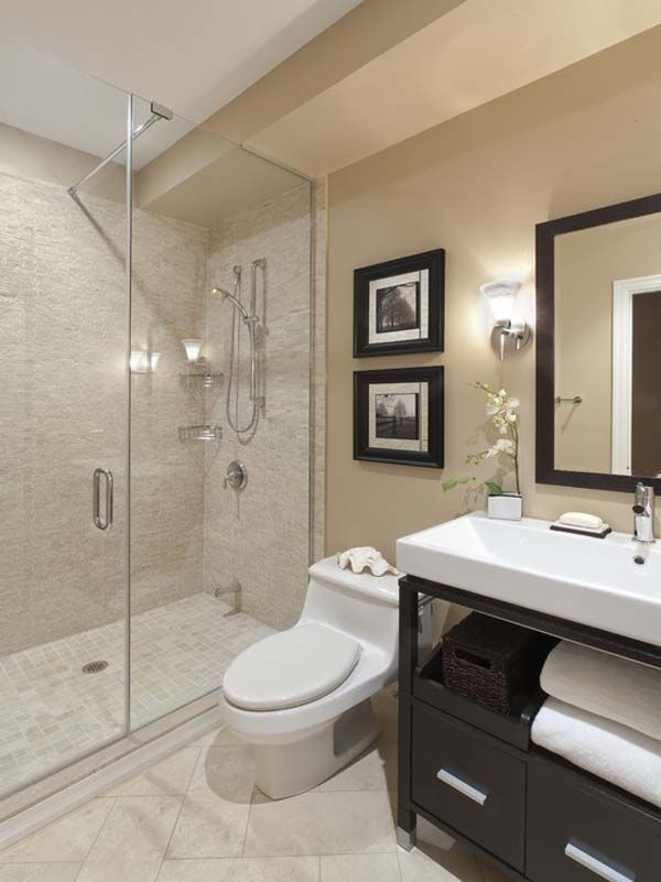Neutral bathroom decor ideas mi casa pinterest for Toilet and bath design ideas
