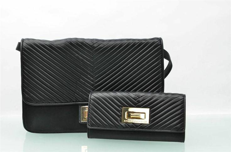 armani exchange purse and wallet womens ax black satchel