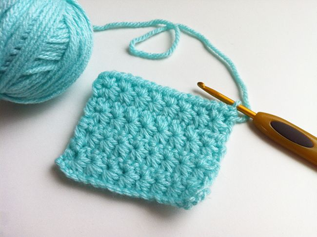 Crochet - star stitch Crafts Pinterest
