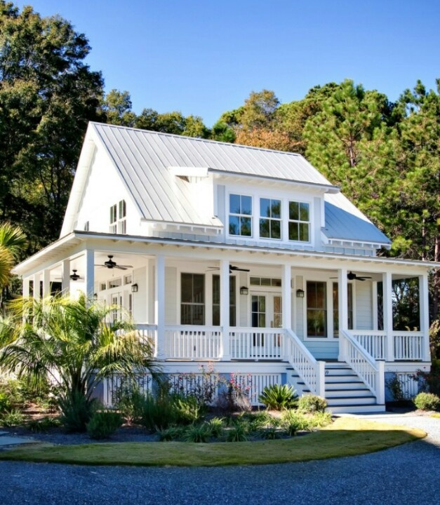 Love the wrap around porch for the home pinterest for Homes with porches all the way around
