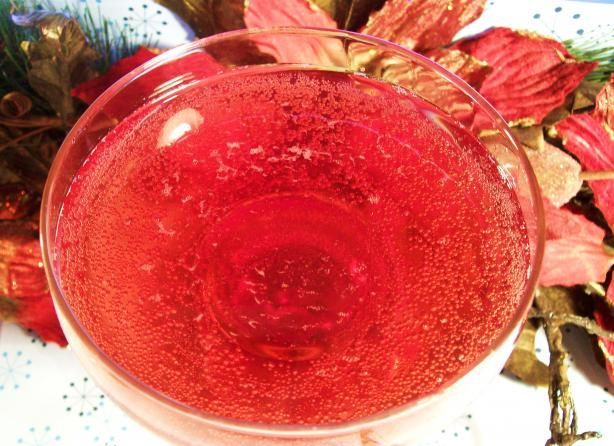 Faux Pink Champagne (non-alcoholic punch)