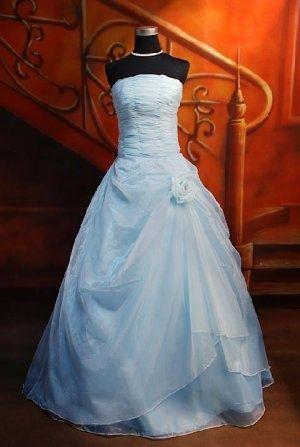 Baby blue strapless wedding dress wedding amp fashion pinterest