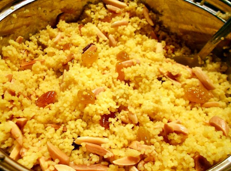 Curried Couscous with Almonds and Raisins