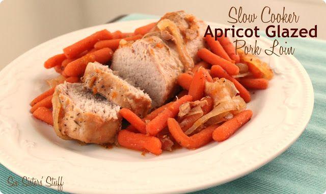 Slow Cooker Apricot Glazed Pork Tenderloin Recip on MyRecipeMagic.com