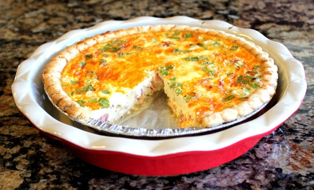 quiche fried garlic spinach and goat cheese quiche ham and cheese
