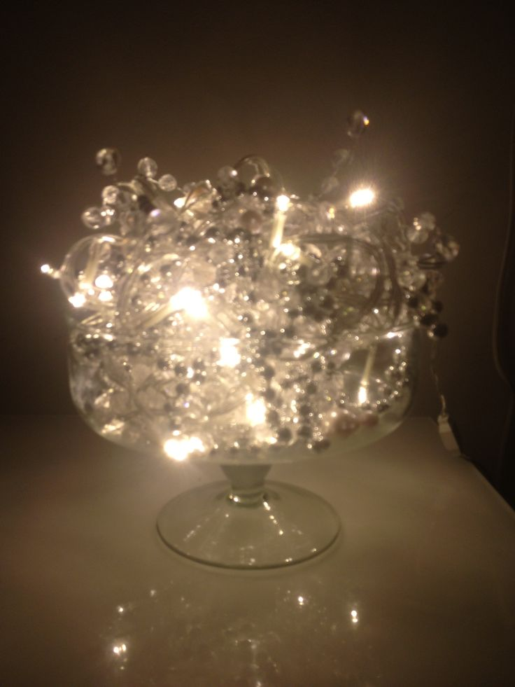 Christmas lights in a bowl, simple!