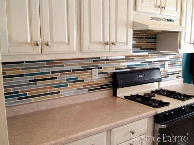 paint your backsplash to look like tile from one of my favorite