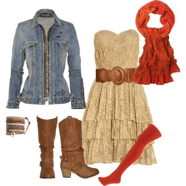 Denim and Lace, adorable!!