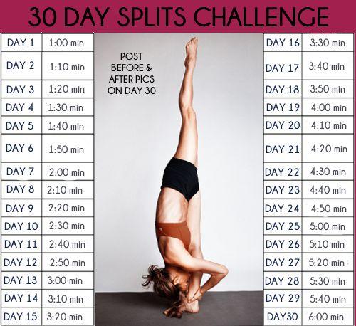 Упражнения для растяжки по дням