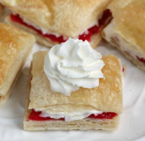 Strawberry Napoleons | A Sweet Baker | Sweets! | Pinterest