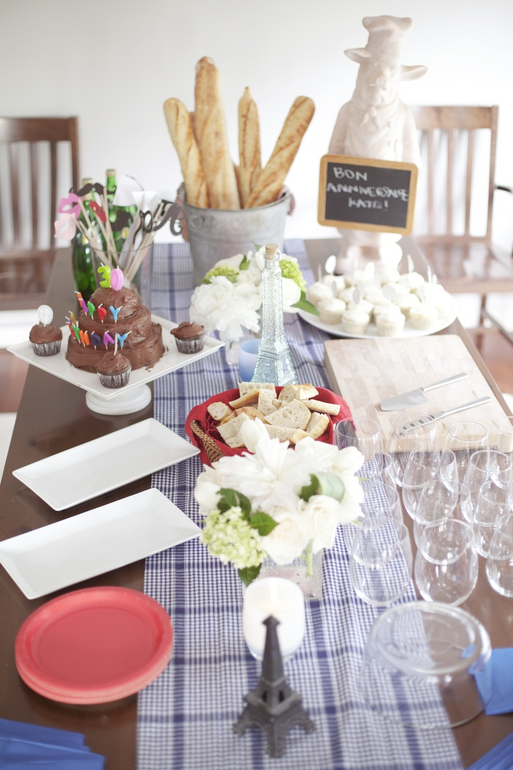 french theme birthday party french parisian style party