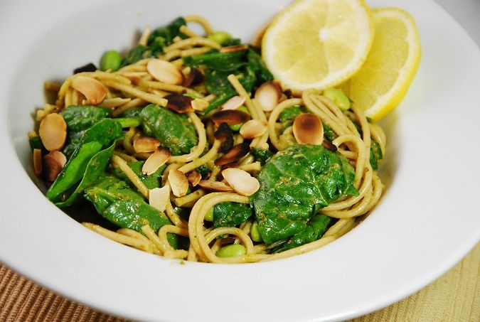 ... pasta with edamame and lemony pesto pasta with edamame almonds recipes