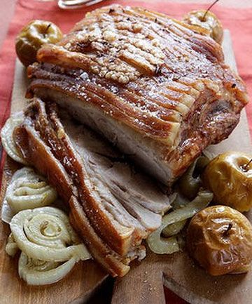 Slow-Roasted Pork Shoulder With Fennel And Orange Recipe — Dishmaps