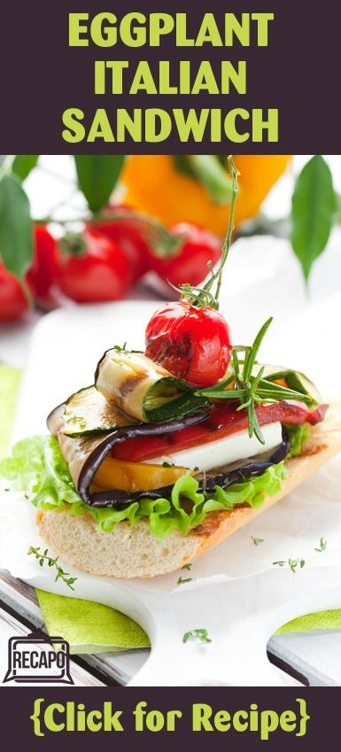 Check out this recipe from Michael Symon for a fried eggplant sandwich ...